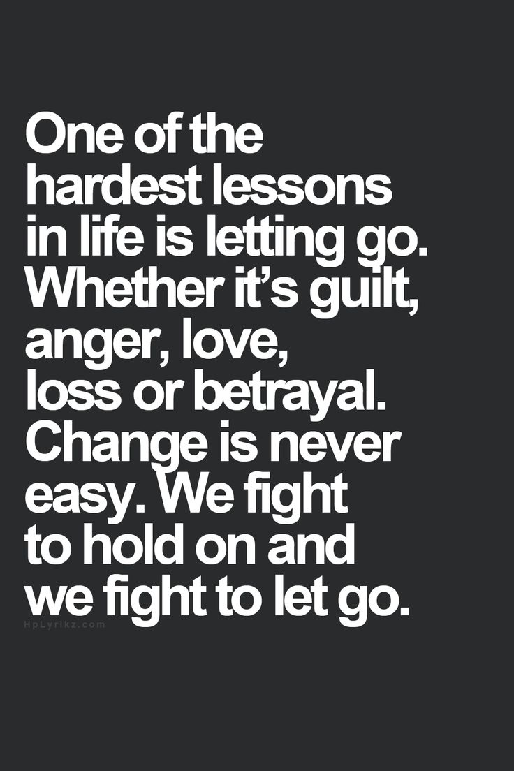 Sometimes Letting Go M...