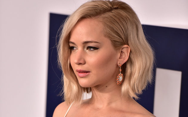 "NEW YORK, NY - DECEMBER 13: Jennifer Lawrence attends the ""Joy"" New York Premiere at Ziegfeld Theater on December 13, 2015 in New York City. (Photo by James Devaney/WireImage)"